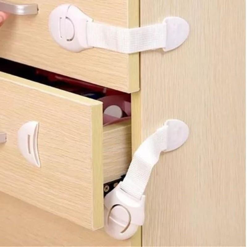 Kit com 10 Travas Tecido para gavetas geladeiras e armarios