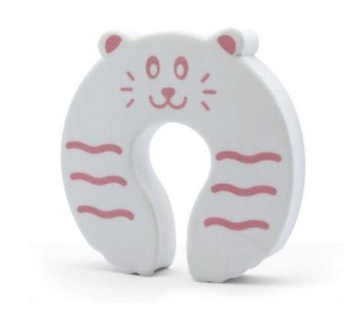 Kit Com 2 Protetor De Dedo Contra O Fechamento De Porta Seguranca Bebe Crianca Protetor Salva Dedos Branco Kababy