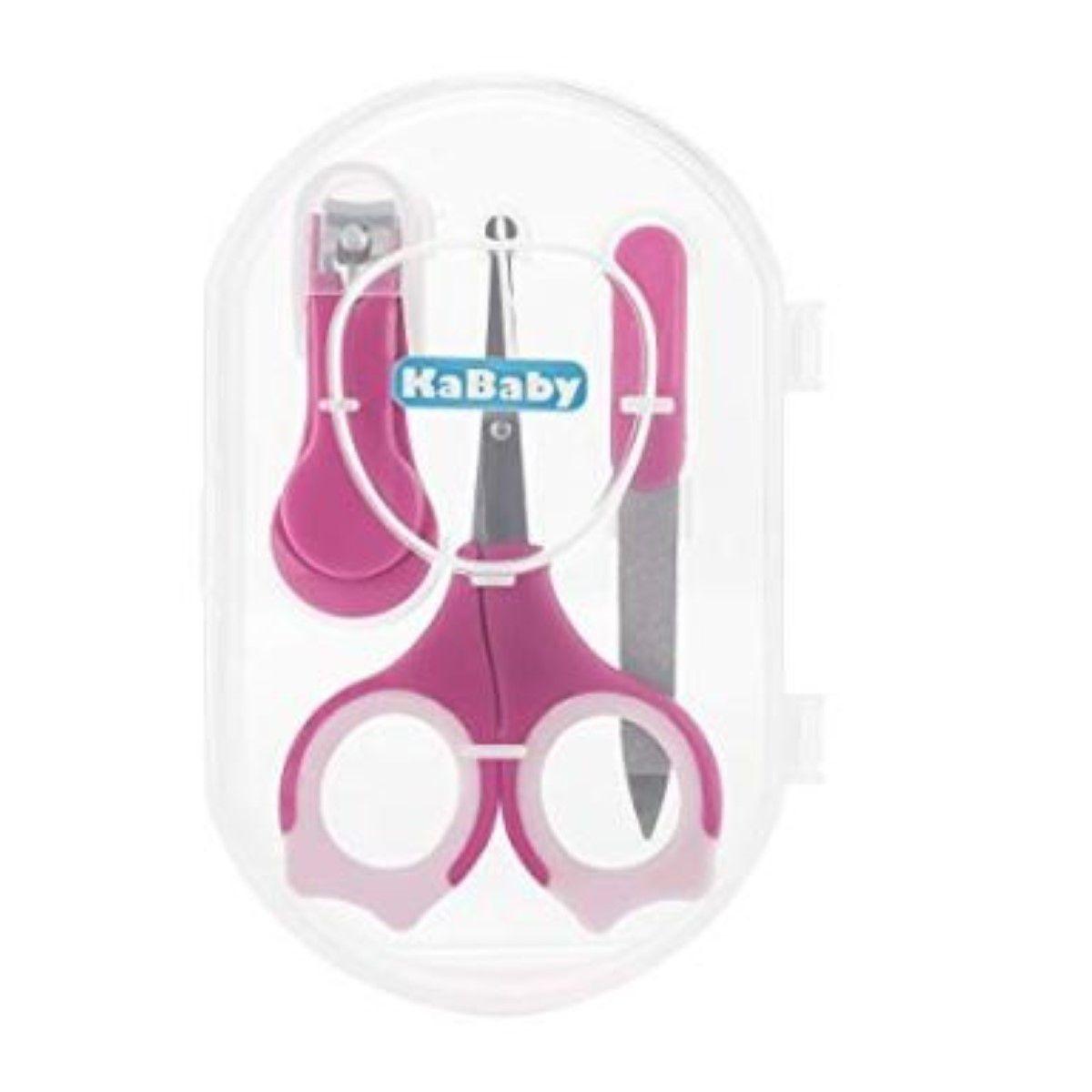 Kit Manicure Infantil Bebe Premium Rosa Kababy Conjunto Cuidados Com Bebe Acessorios De Higiene Cortador Tesoura Lixa .