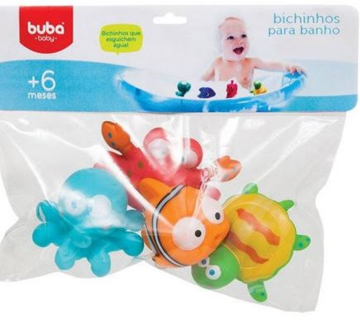 Kit Para Banho Bichinhos Oceano Buba