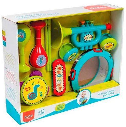 Minha Primeira Bandinha Brinquedo Jogo Musical Multicores Unisex Desenvolve cod 191 Motora 10 Pecas Buba Baby