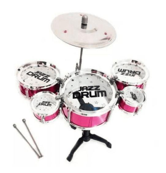 Mini Bateria Musical Infantil , 5 Tambores 1 Prato - Jazz Drum - Pica pau brinquedos