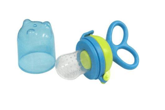 Porta Frutinha Azul Regulagem Chupeta Silicone Alimentador Frutinhas E Legumes Alimentadora Rosa para seu Bebê.