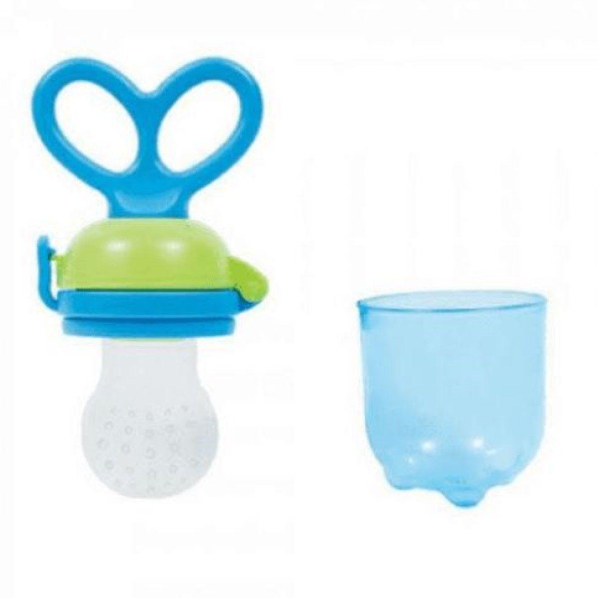 Porta Frutinha E Legumes Buba Baby Cor - Azul - Alimentador Para Bebê