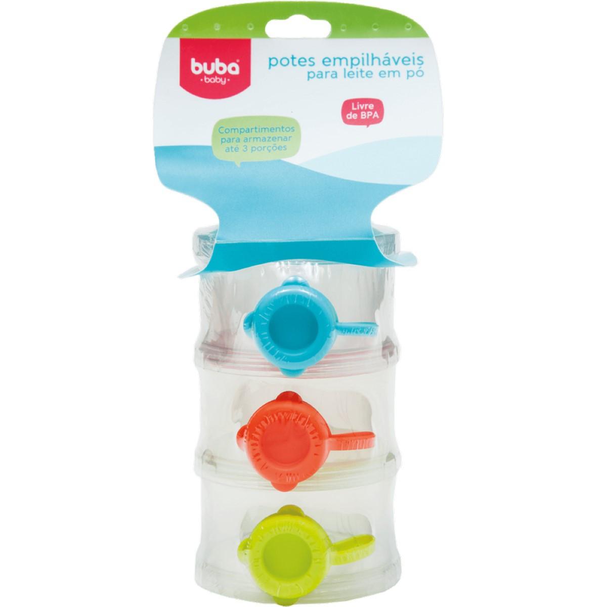 Potes Empilháveis Para Leite Em Pó Para Bebês - Buba