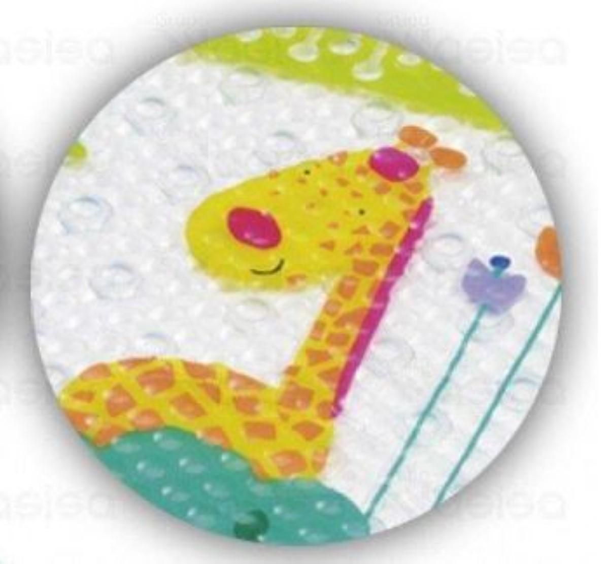 Tapete Antiderrapante Para Banho Safari Unisex banho divertido para o bebe Buba Baby.
