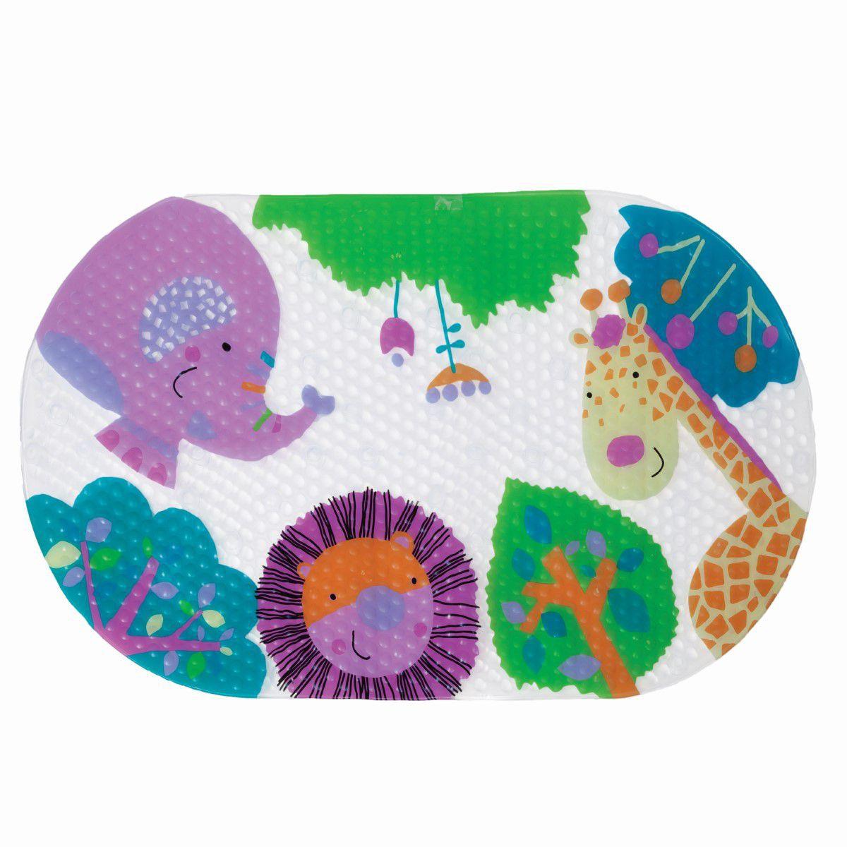 Tapete Para Banho Antiderrapante Unisex para Crianca Buba Baby Multicor Selvinha Infantil.