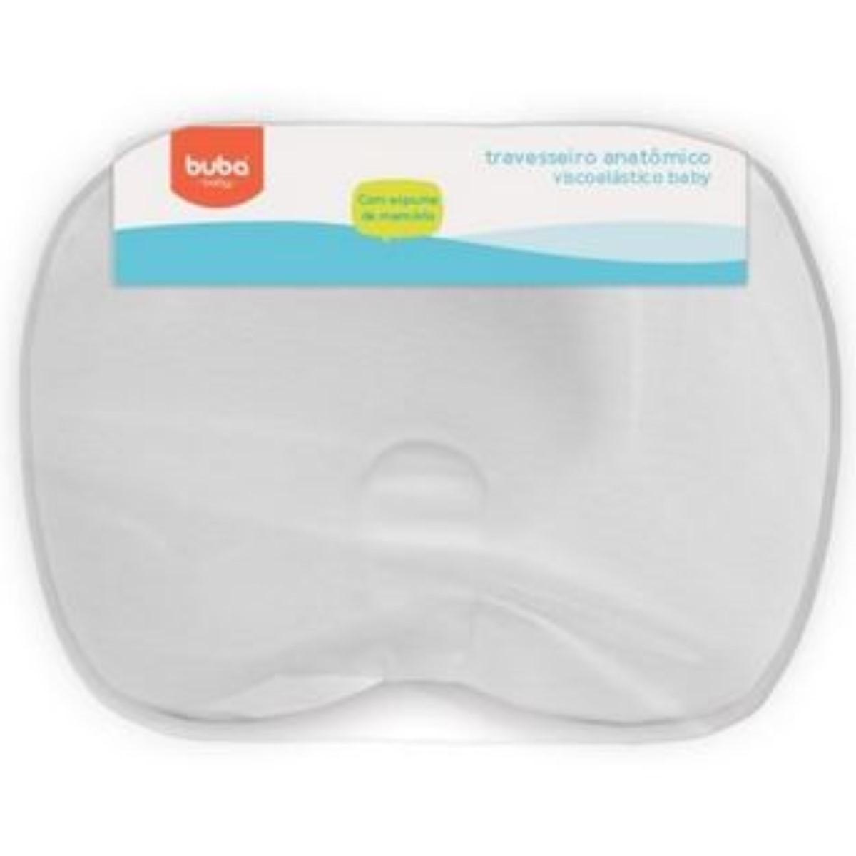 Travesseiro De Bebês Anatômico Viscoelástico branco Buba