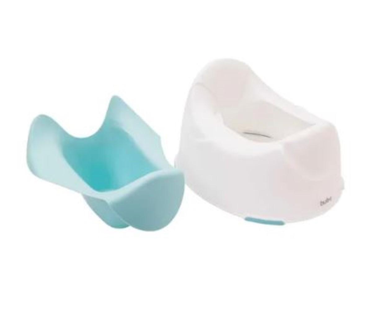 Troninho Infantil Pinico Azul E Verde Piniquinho Mictorio Ajuda No Desfralde Menino Buba Baby