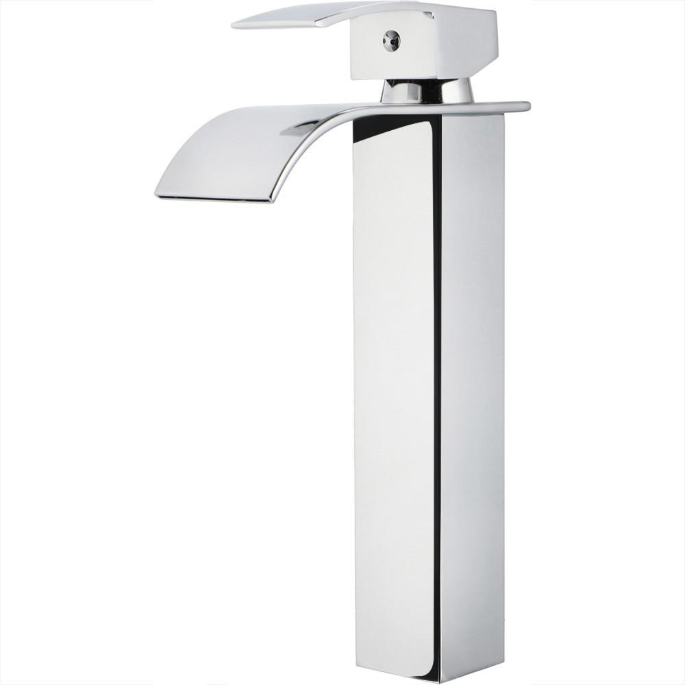 Torneira para banheiro cascata misturador monocomando alta Paraná Pingoo.casa - Cromado