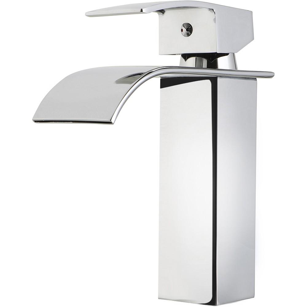 Torneira para banheiro cascata Misturador Monocomando Baixa Paraná Pingoo.casa - Cromado
