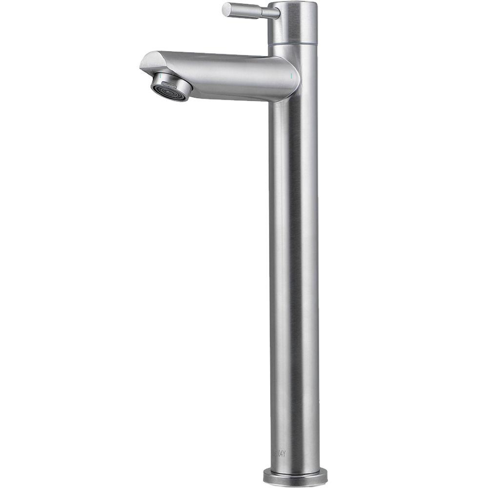 Torneira Para Banheiro em Aço inox Escovado Alta Amazonas Pingoo.casa - Prata