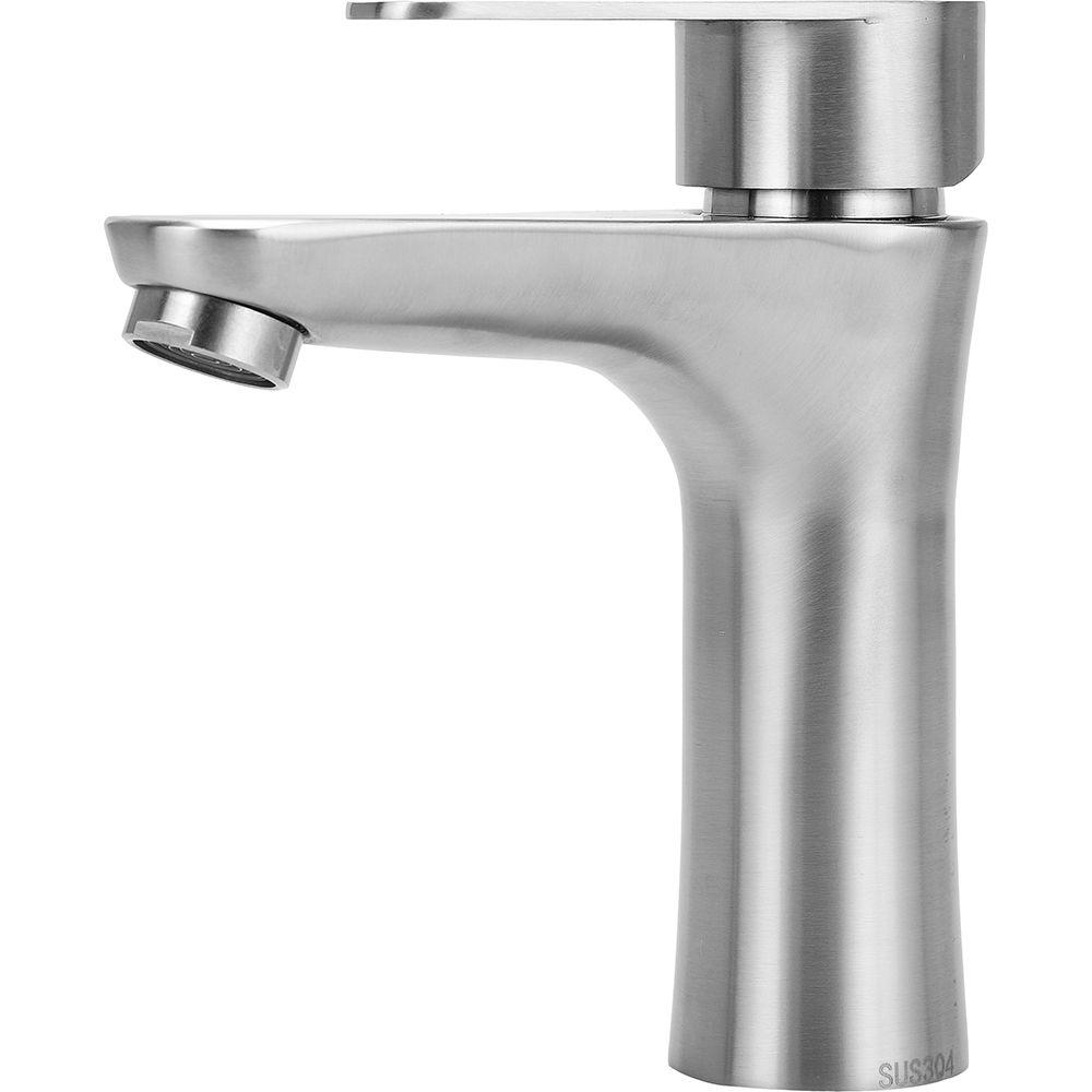 Torneira para banheiro Misturador Monocomando Baixa Araguaia Pingoo.casa - Prata
