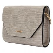 Bolsa Mini Lateral WJ Textura Croco Natural