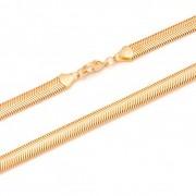 Colar Malha Dourado Lacraia Semijoia Banho Ouro 18k