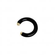 Piercing Tubo de Encaixe Esmaltado Banho Ouro 18K