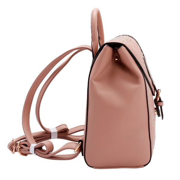 Bolsa Mochila Chenson Rebites Rosé