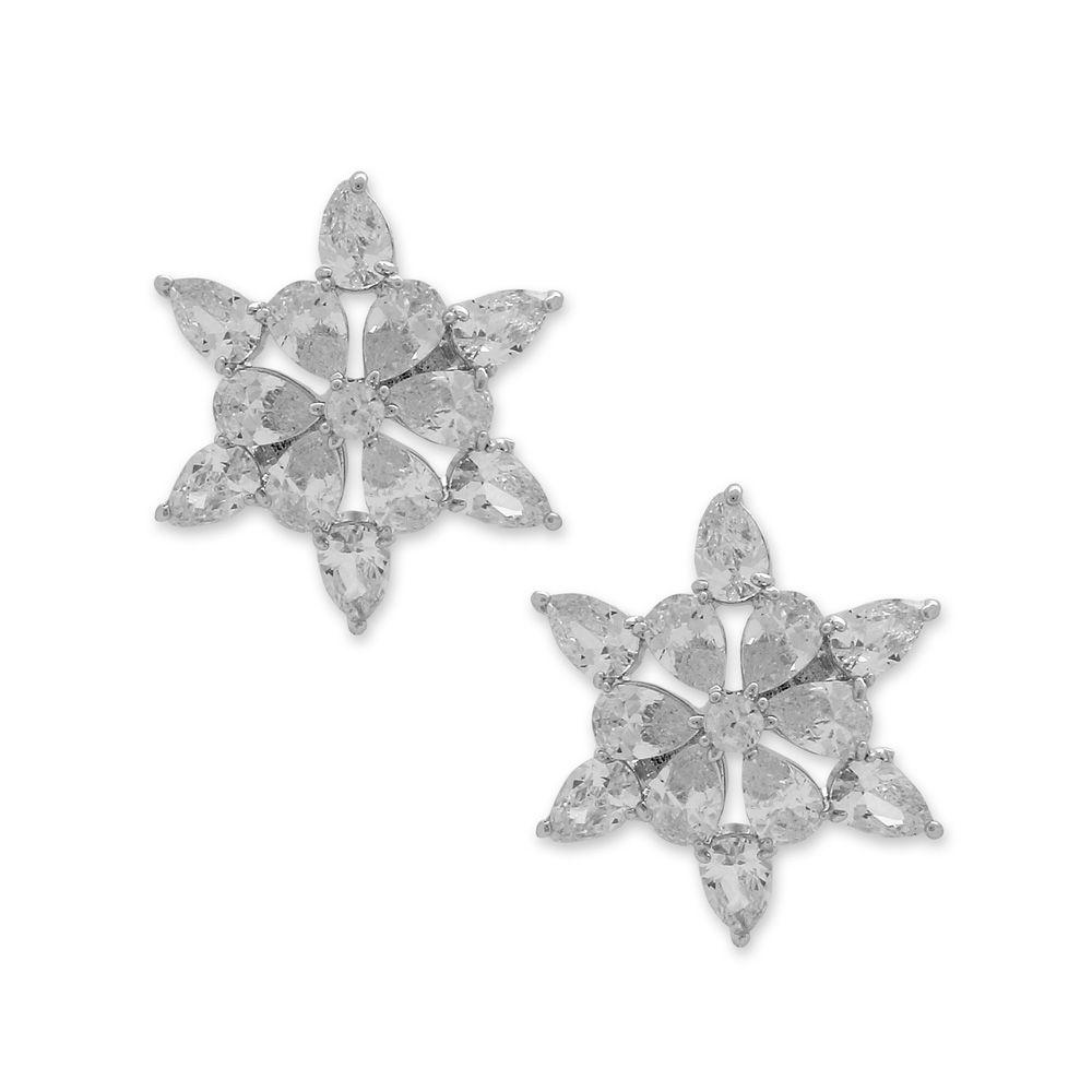Brinco Estrela Cravejado com Zircônias