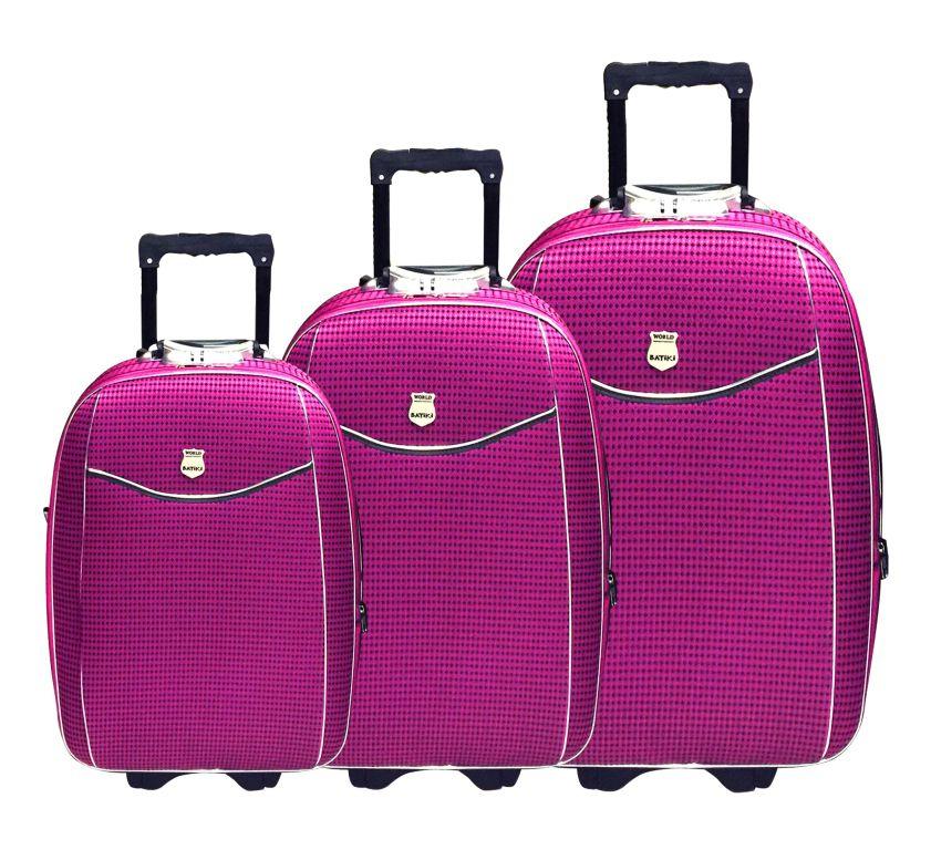Conjunto Malas de Viagem Batiki Expansível Rosa