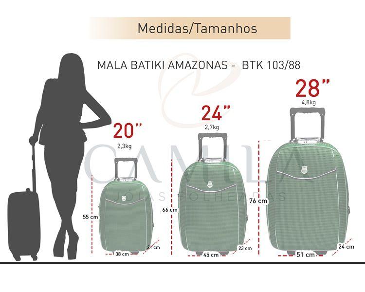 Conjunto Malas de Viagem Batiki Expansível Verde