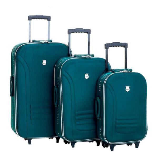 Conjunto Malas de Viagem Batiki Rodinhas e Cadeado BTK 65 Verde