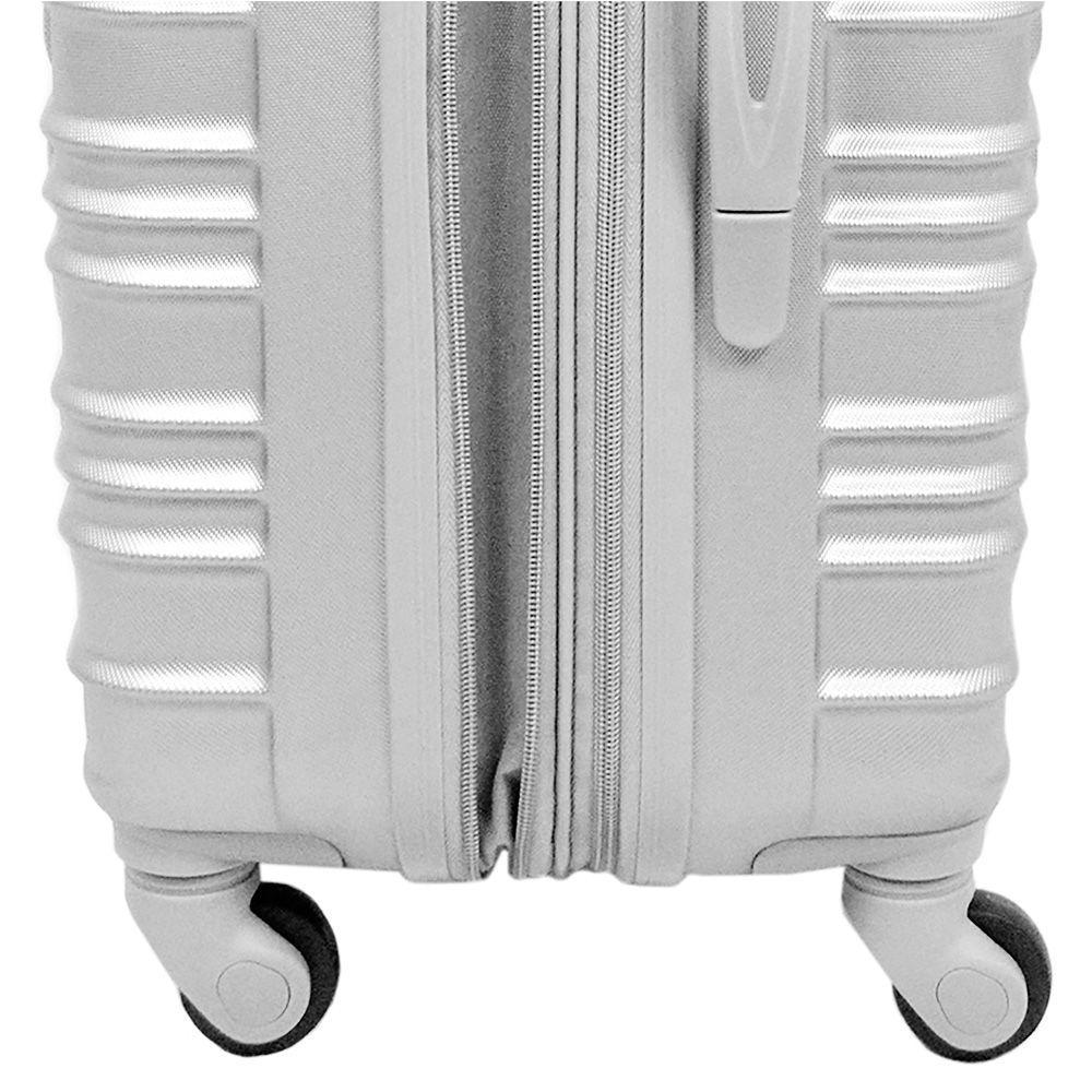Mala de Viagem Pequena Batiki ABS 360° Expansível Prata