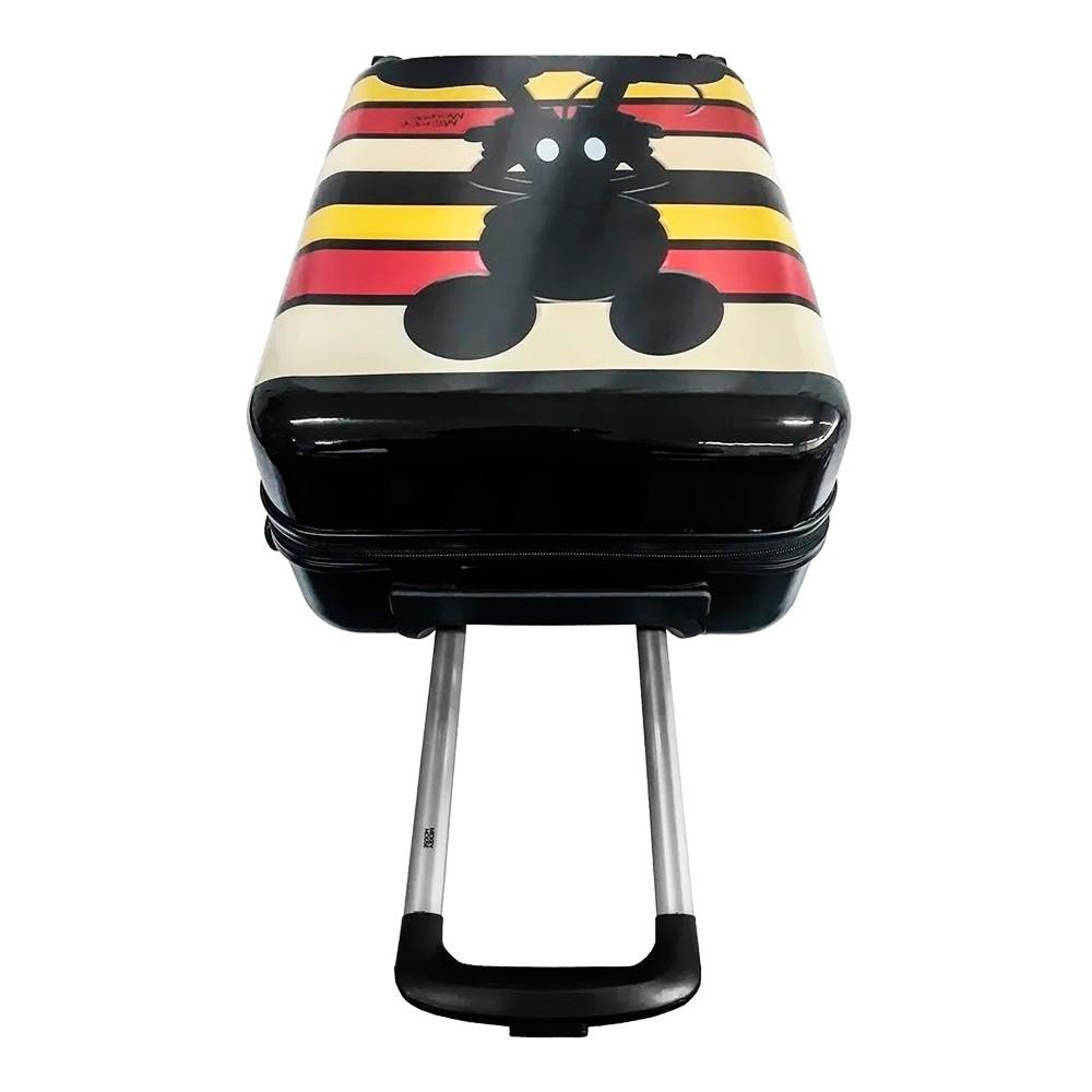 Mala de Viagem Rígida Média 360° Mickey Mouse Listras Disney