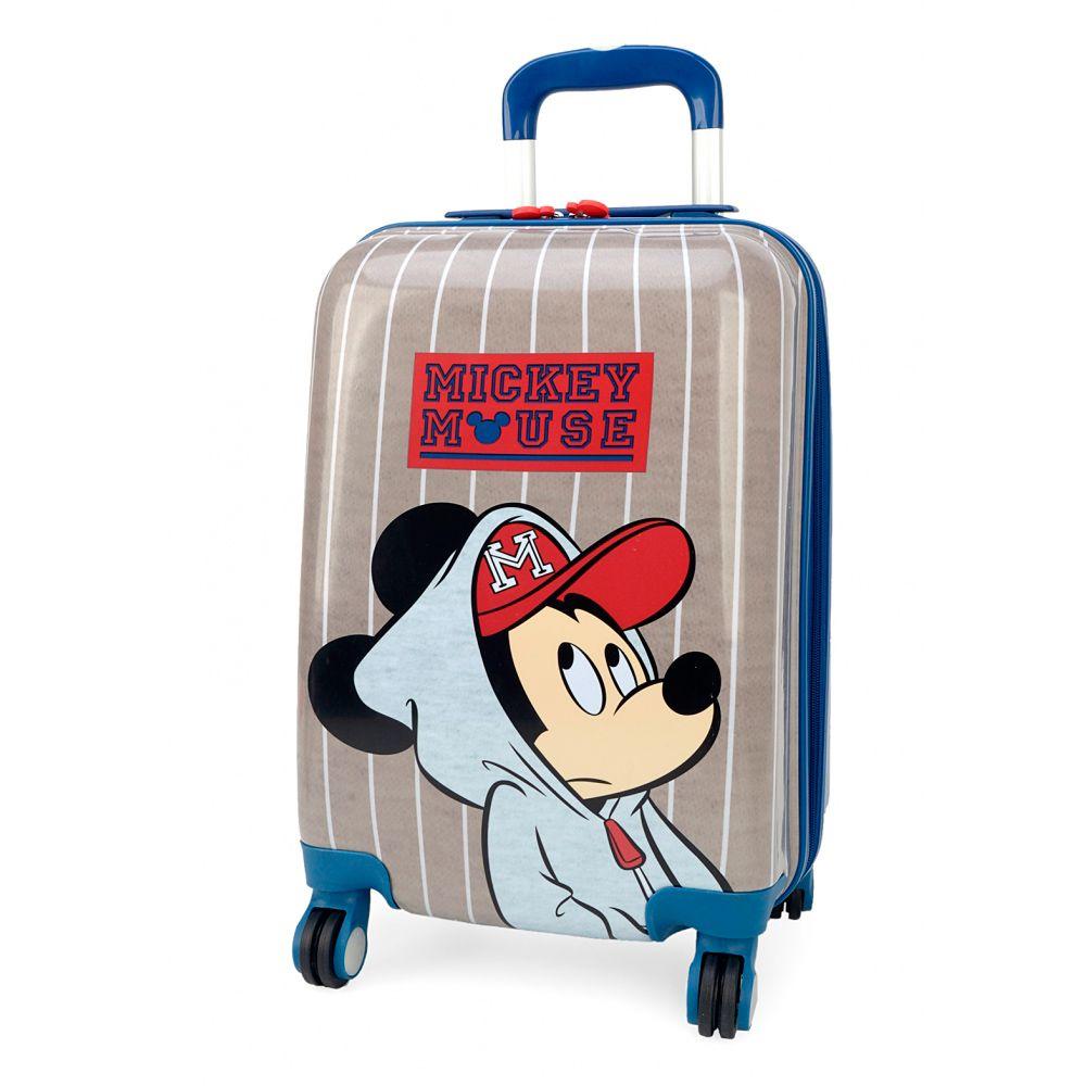 Malinha Escolar Mala Bordo Infantil Mickey Mouse 360° Luxcel