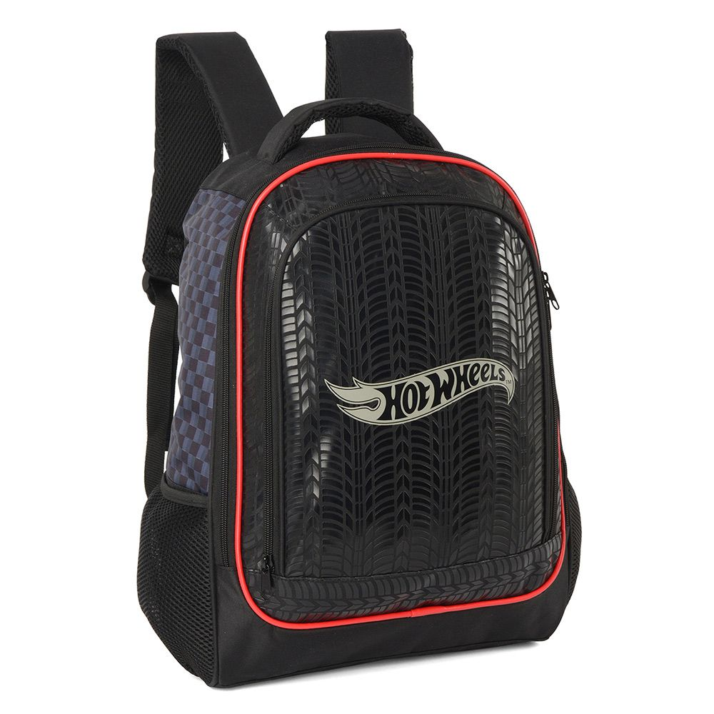 Mochila Escolar Costas Notebook Hot Wheels Luxcel Preto