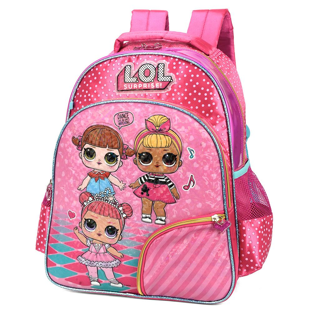 Mochila Escolar Infantil Boneca Lol Surprise Rosa Original