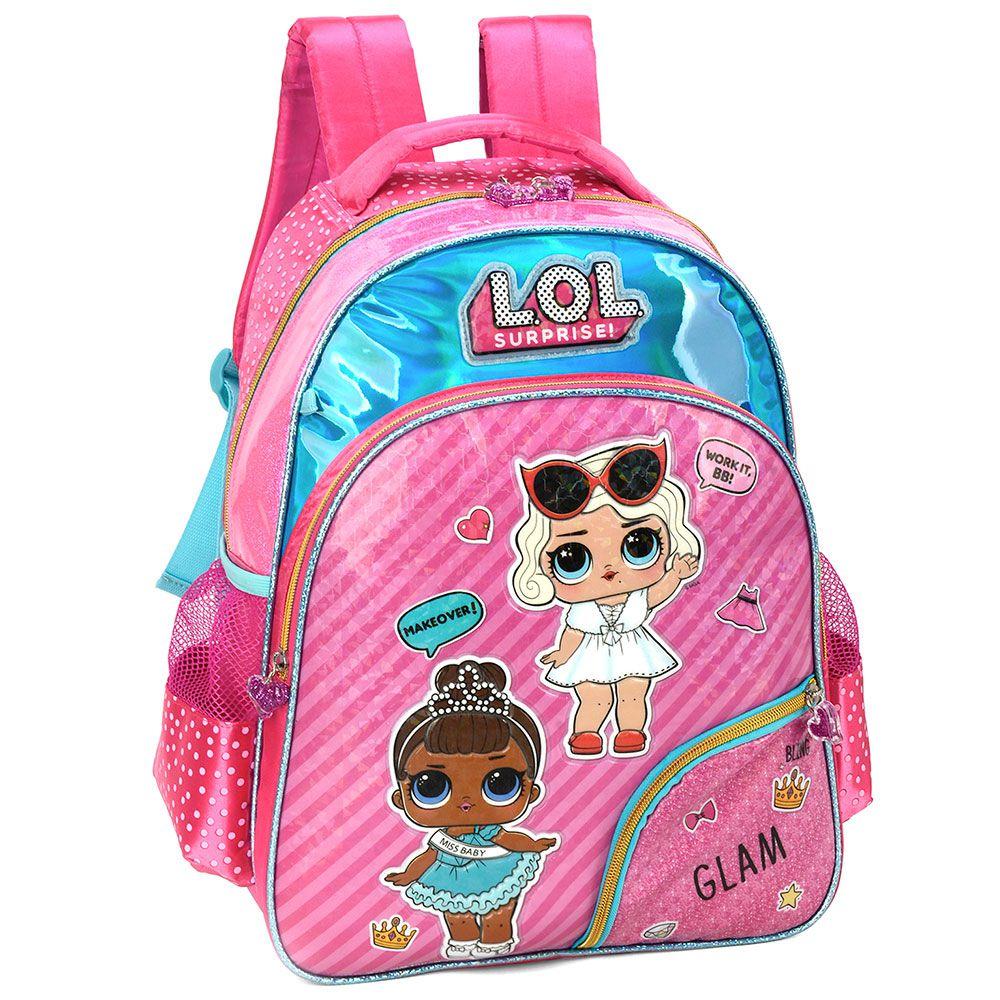 Mochila Escolar Infantil Boneca Lol Surprise Rosa Luxcel
