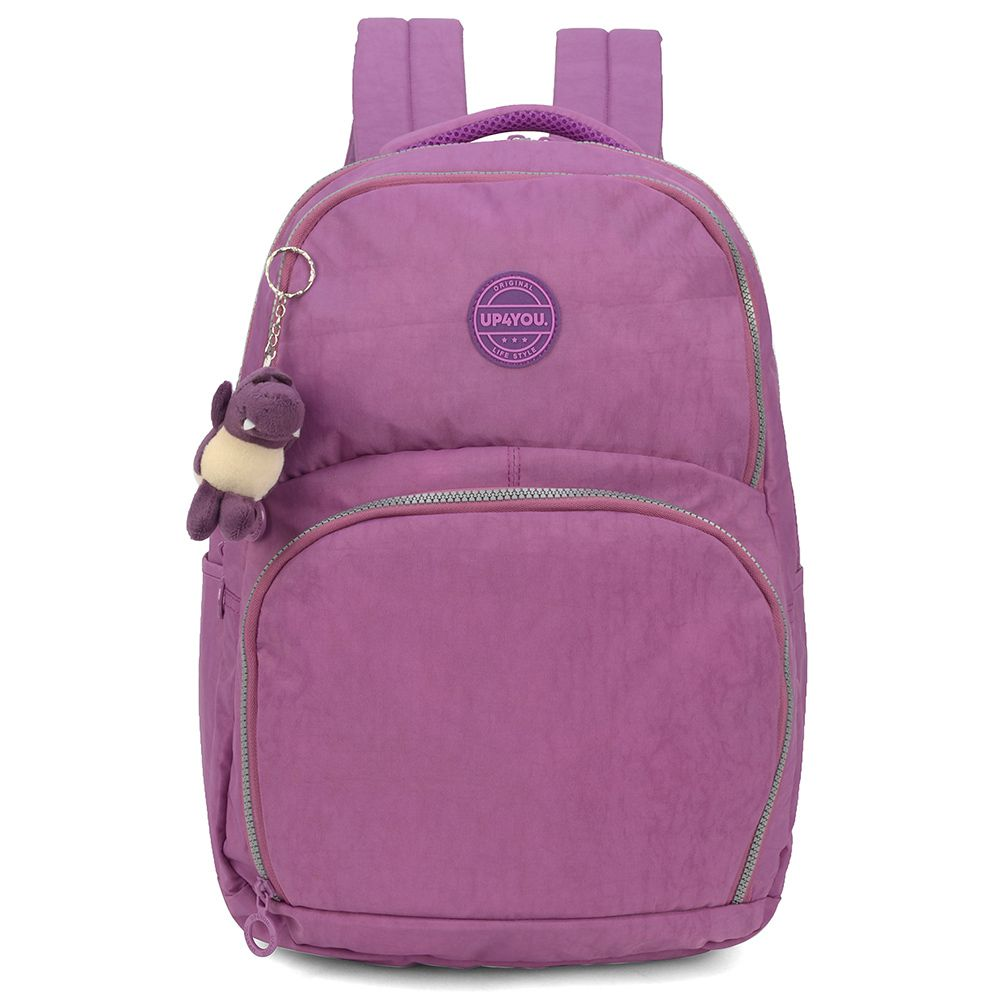 Mochila Escolar Tactel Costas Crinkle Up4you Notebook