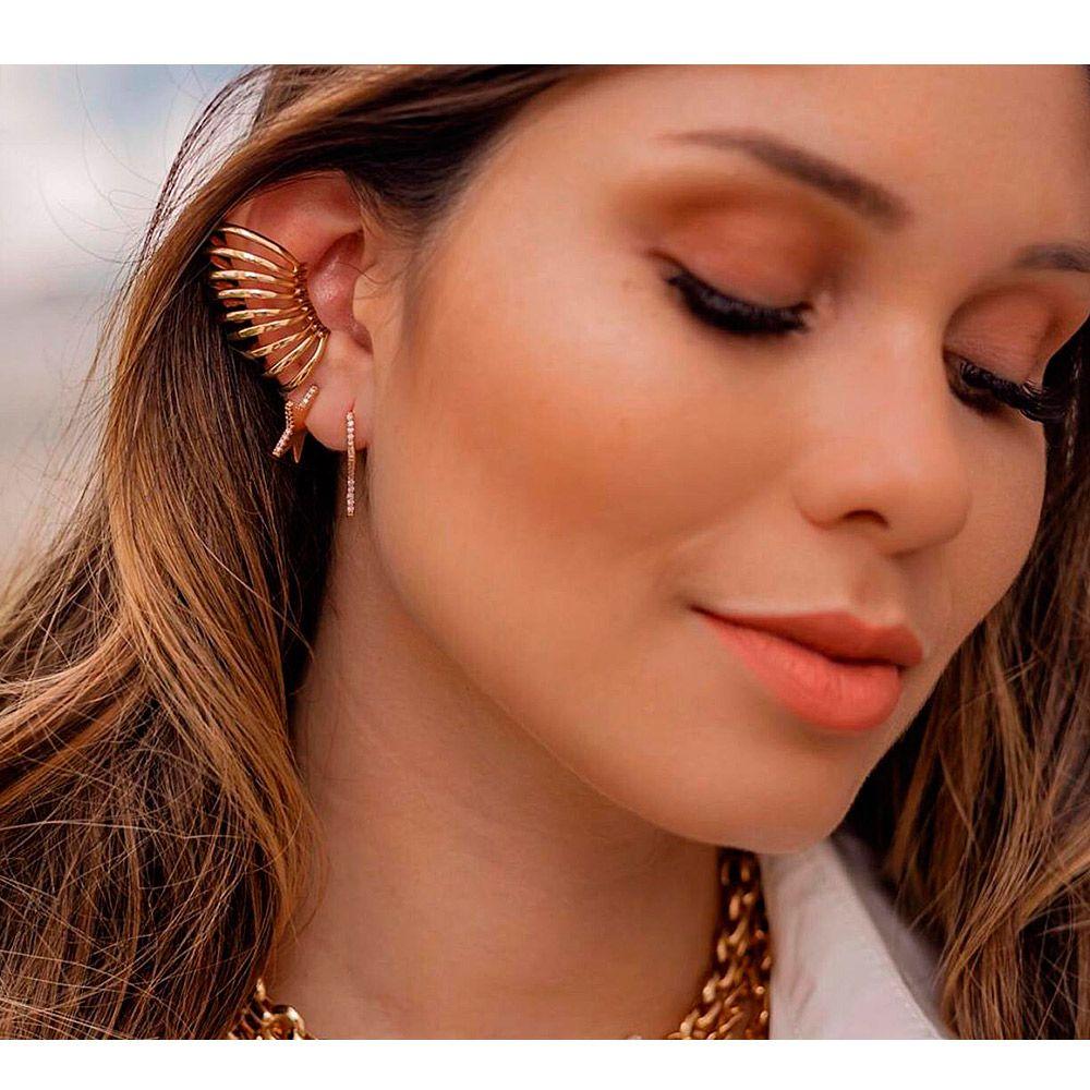 Piercing Fake Argolas Semijoia Banho em Ouro 18K