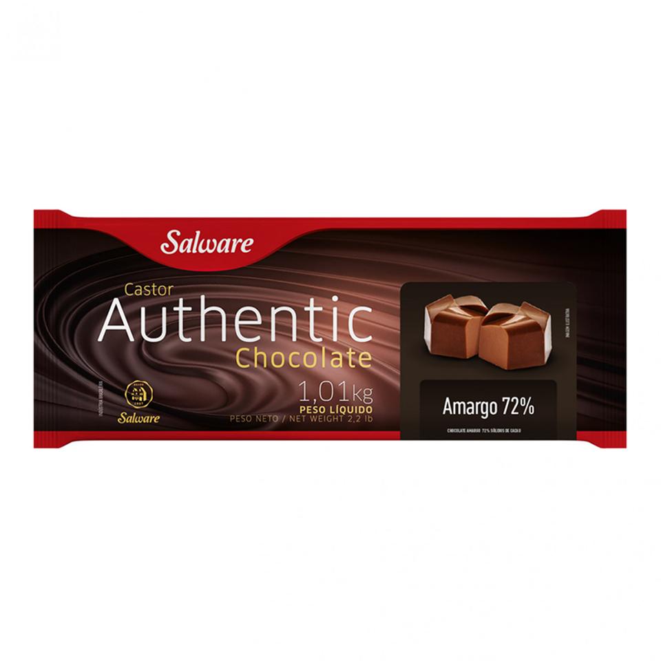 CHOCOLATE AUTHENTIC AMARGO 72 % BARRA 1,01 KG