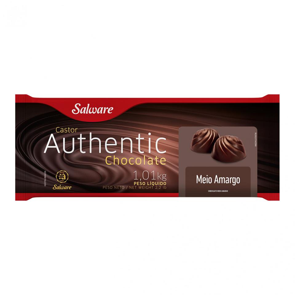 CHOCOLATE AUTHENTIC MEIO AMARGO BARRA 1,01 KG