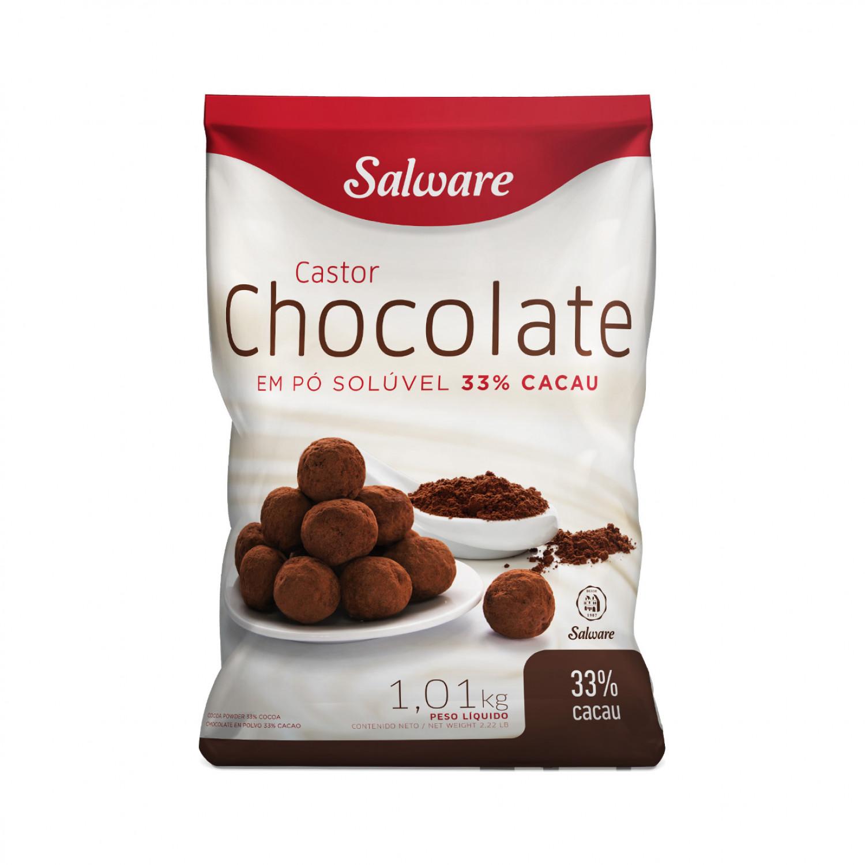 CHOCOLATE EM PÓ 33% CACAU PACOTE 1,01KG