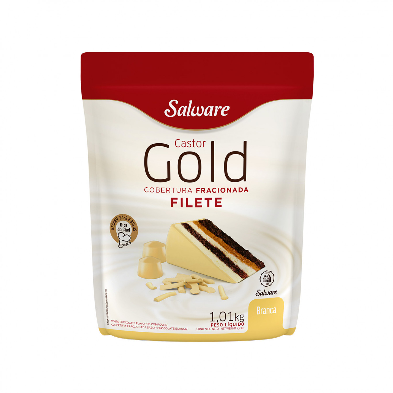 COBERTURA FILETE GOLD BRANCA PACOTE 1,01KG