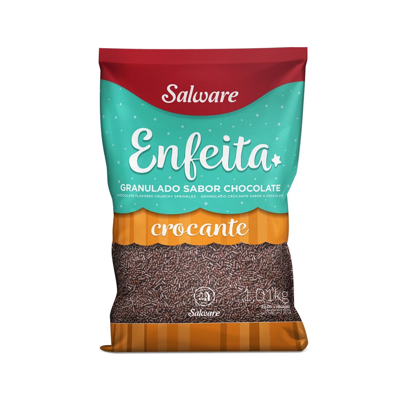 GRANULADO CROCANTE CHOCOLATE ENFEITA PACOTE 1,01KG