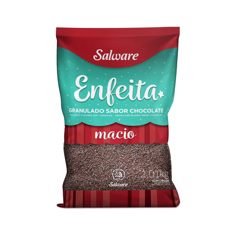GRANULADO MACIO CHOCOLATE ENFEITA PACOTE 1,01KG