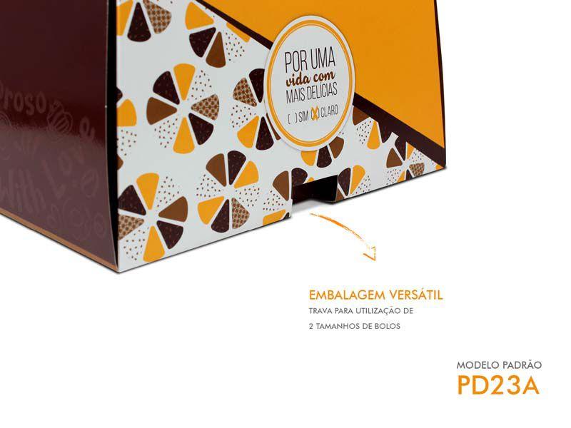 PD23A EMBALAGEM PARA BOLO COM ALÇA PADRÃO 250 x 250 x 135 mm 01 UNIDADE