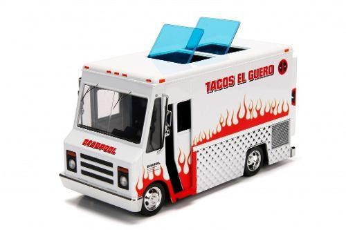 Deadpool Taco Truck - Boneco + Veiculo - 1/24- Metals Die cast
