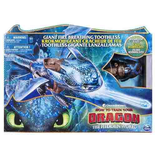 Como Treinar Seu Dragão 3 - Boneco Banguela C/ Efeito E 50cm