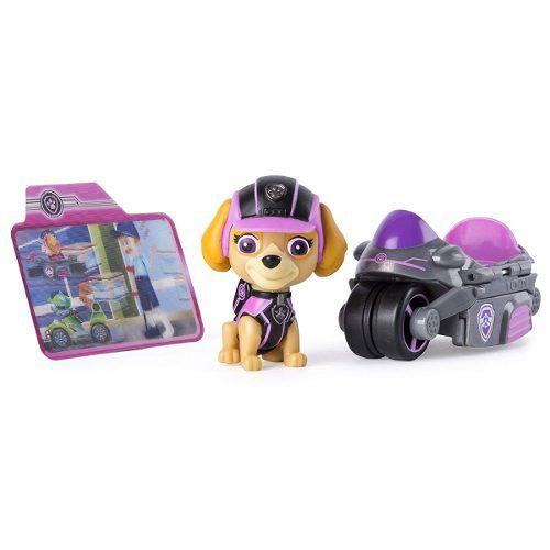 Skye - Patrulha Canina - Mini Veiculo Com Boneco - Sunny