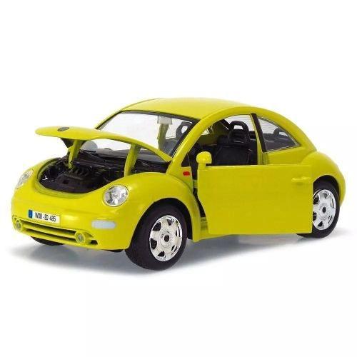 Volkswagen New Beetle - Amarelo - Burago - Escala 1/24