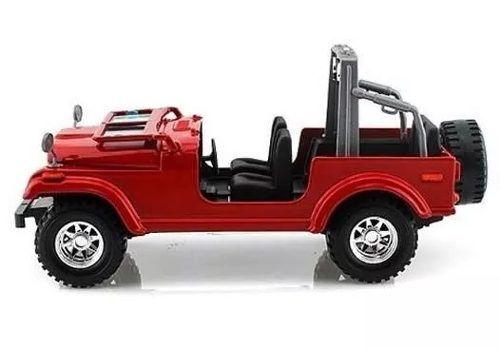 Jeep Wrangler - Vermelho - Burago - Escala 1/24