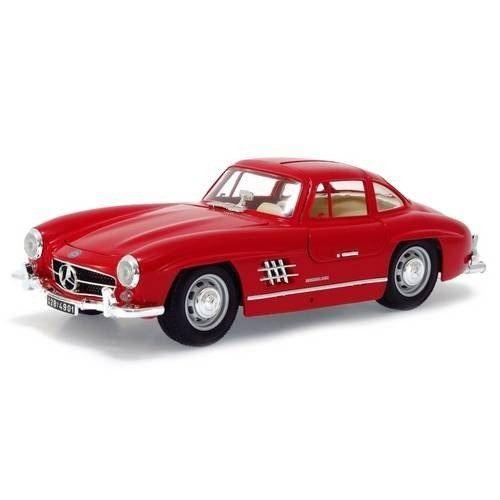 Mercedes-benz - 300 Sl 1954 - Vermelho - Burago Escala 1/18