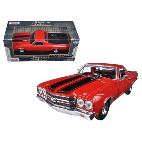 Chevy - El Camino Ss 396 - Motormax - Escala 1:24 - 1970 Vermelho