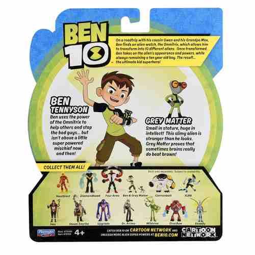 Figuras De Ação Ben 10 - Ben & Massa Cinzenta - Original Sunny