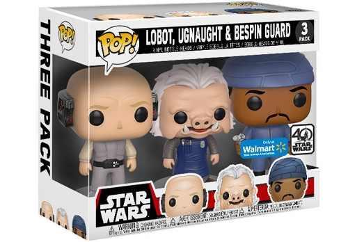 Funko Pop - Star Wars Pack 3 - Lobot, Ugnaught E Bespin Guard