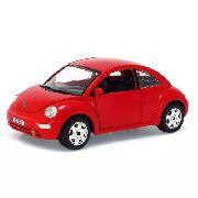 Volkswagen New Beetle - Vermelho - Burago - Escala 1/24